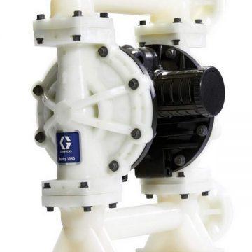 Husky 1050 Polypropylene Pump, End Flange, Pulse Count Polypropylene Ctr Section, S/S Seats, S/S Balls & PTFE Overmolded Diaph