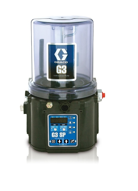 G3™ SP Grease Lubrication Pump, 90-240 VAC, 4 Liter, Low Level with Controller, 1 Sensor, DIN