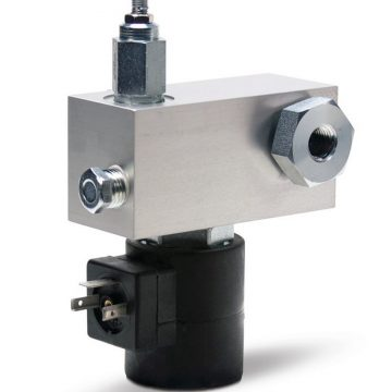 Direct-Mount Vent Valves for G3™ Pumps - BSPP, 24 VDC, 500-3500 psi, Normally Closed, RH